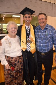 Cameron with his Grandparents: Martha and Jerry Johnson.