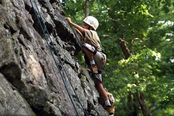 Try It!  You Will Probably Like It: Rock Climbing at Horseshoe Canyon Ranch.