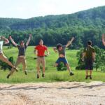 ranch crew jumping