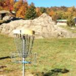 disc golf basket at Horseshoe Canyon Ranch