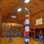 climbing activities in barn