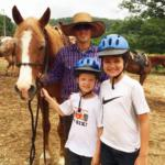kids and a horse at Horseshoe Canyon Ranch