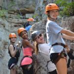 kids rock climbing at Horseshoe Canyon Ranch