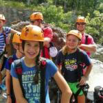 kids ready to ride the zipline at Horseshoe Canyon Ranch
