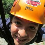 kid on the zipline at Horseshoe Canyon Ranch