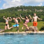 kids in the pool at Horseshoe Canyon Ranch